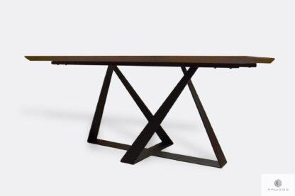 Loft oak table with black metal legs BORNEO I