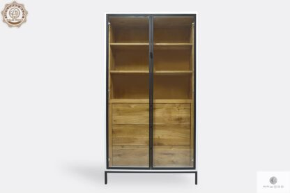 Wooden display cabinet with shelves and drawers to living room CARLA II