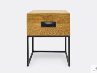 Oak loft bedside table with drawers to bedroom WALT II