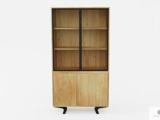 Design oak display cabinet of solid wood to living room VITA