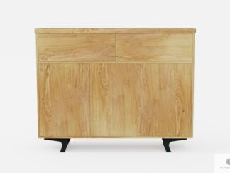 Industrial oak chest of drawers of solid wood to living room VITA II