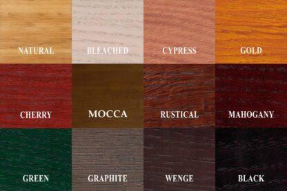 Samples of wood colors