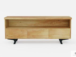 Industrial oak TV cabinet with drawers on metal legs VITA