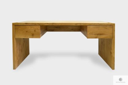 Modern solid oak desk with drawers of solid wood to office DAVOS I