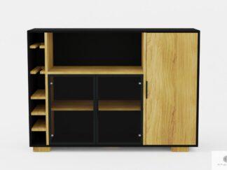 Design oak bar cabinet to living room CARLA