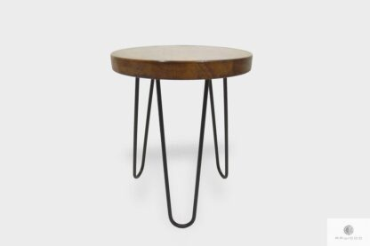 Industrial stool with wooden seat to dining room LOFT