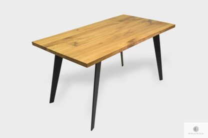 Industrial oak table with extension plates to dining room CORTEZ