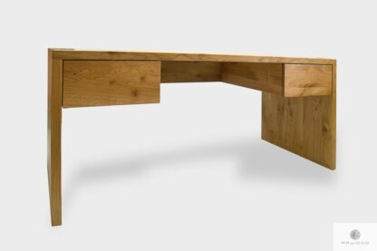 Modern solid oak desk with drawers to office DAVOS I