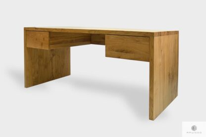 Modern oak desk with drawers for order to office DAVOS I