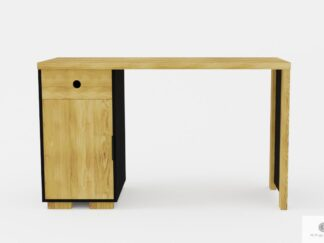 Modern desk of solid oak wood to office CARLA