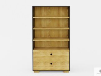 Large wooden bookcase with drawers and shelves to living room CARLA