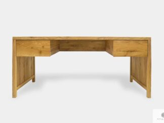 Oak desk with drawers of solid wood to office DAVOS II