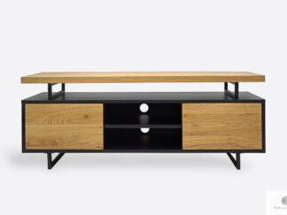 Industrial oak TV cabinet on metal legs to living room NESCA III